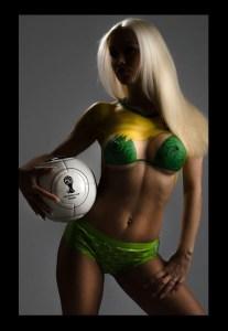 Fussball Bodypaint Fotoshooting