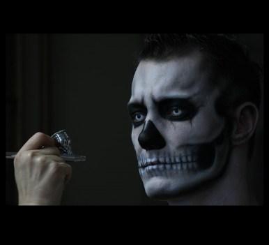 Halloween Facepainting Skull