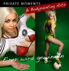 Privat Bodypainting Fotoshooting Fussball Trikot Deutschland