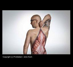Bodypainting für Galileo