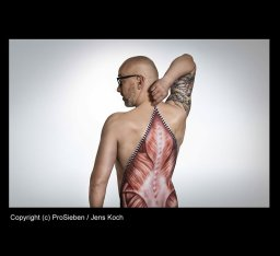 Bodypainting für Galileo Fotoshooting