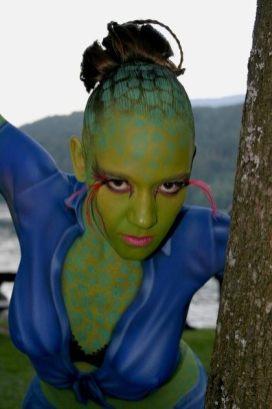 Bodypainting Alien 2007 Österreich