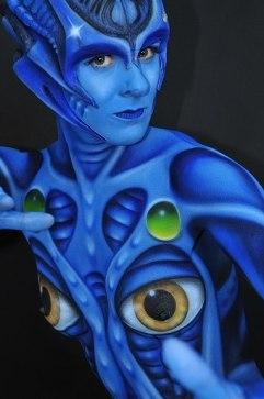 Event Bodypainting Alien
