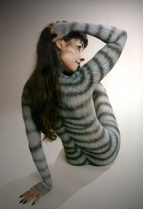 Bodypainting Fotoshooting Katze