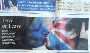 Facepainting Brexit Flagge