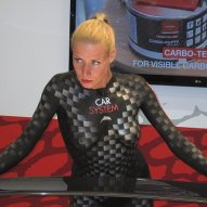 Messe Bodypainting Carbon Promotion