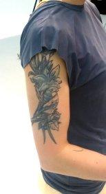Airbrush Tattoo Vogel 1