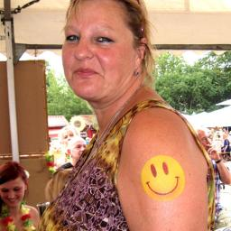 Airbrush Tattoo Smily für Party Gäste