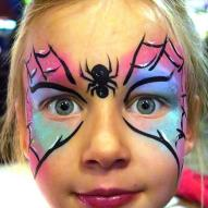 Spinne Kinderschminken Facepainting Profi