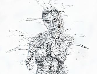 Scribble Bodypainting Malerei Kunst