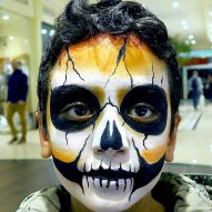 Halloween Kinderschminken Facepainting