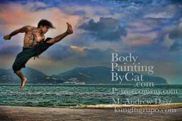 Kungfutiger glitter body tatt pro shot kick bright clouds bpc
