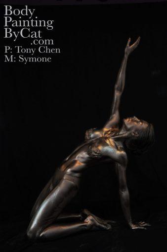 Metalic oil body powder dark strecth kneel bpc
