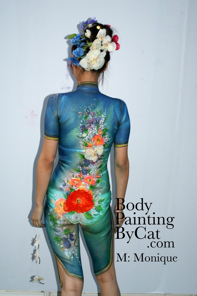 Clothes Fake Body Painting By Cat