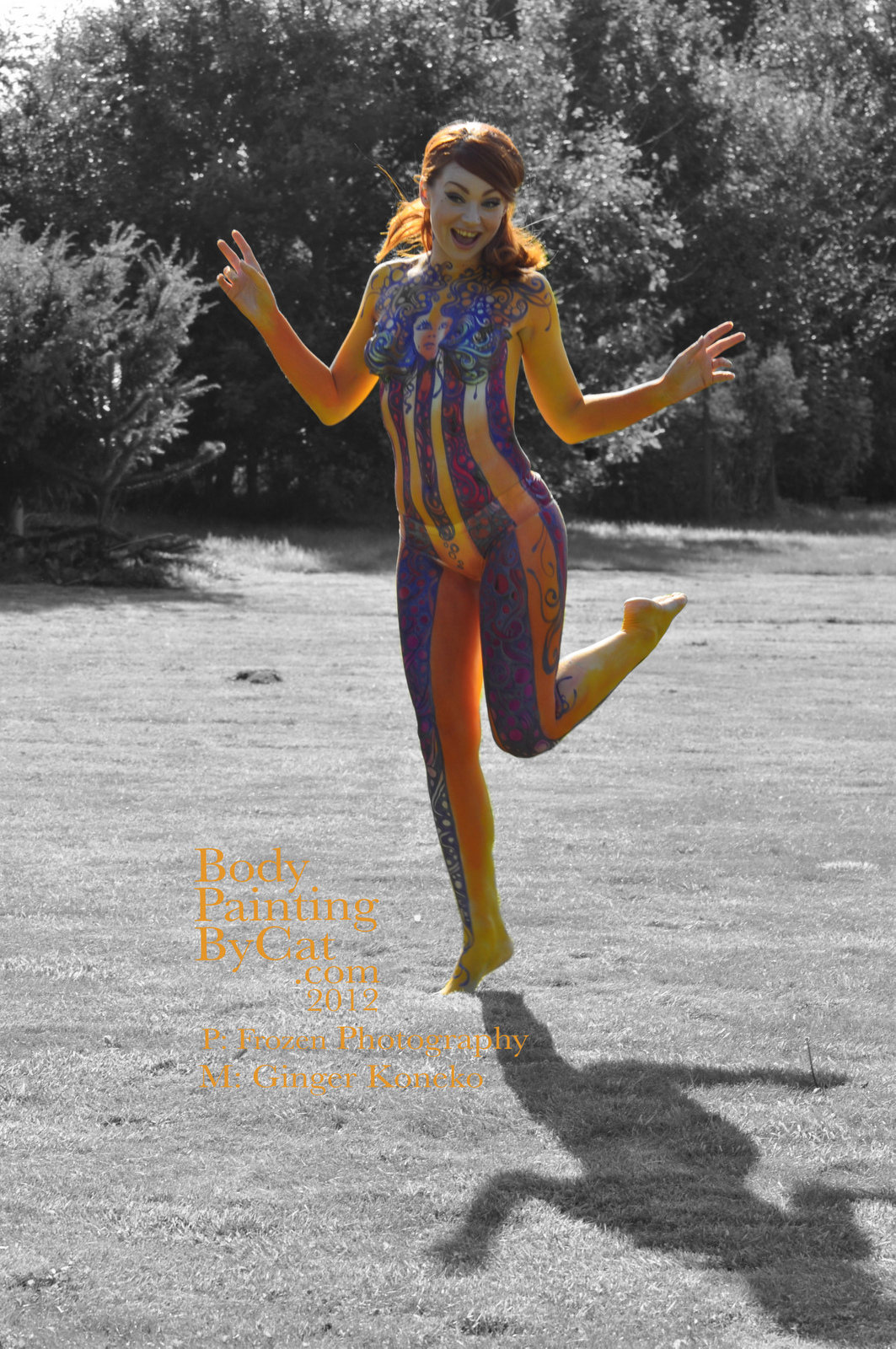Hey Jude Psychedelia Bodypaint  Body Painting by Cat