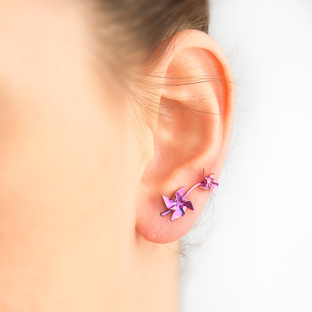 Double ear piercing: Jewelry, Cost, Pictures