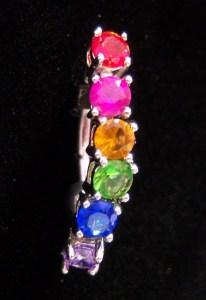 rainbow pride top-down navel dangle