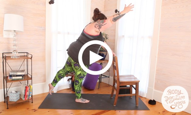 45-minute Body Positive Yoga class with props