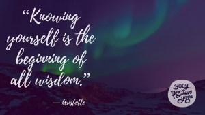 """""""Knowing yourself is the beginning of all wisdom."""""""