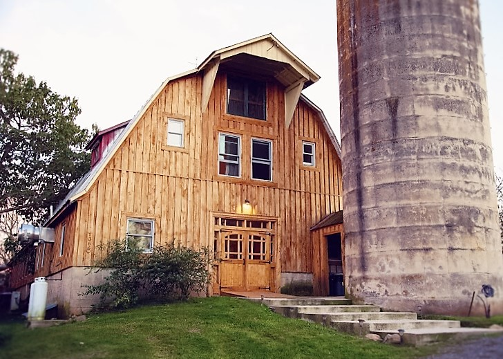 A renovated 100-year old dairy barn - our retreat and yoga space