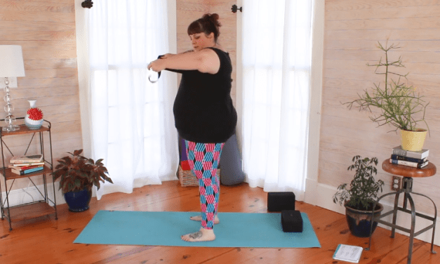 Keeping your chest out of your face during yoga