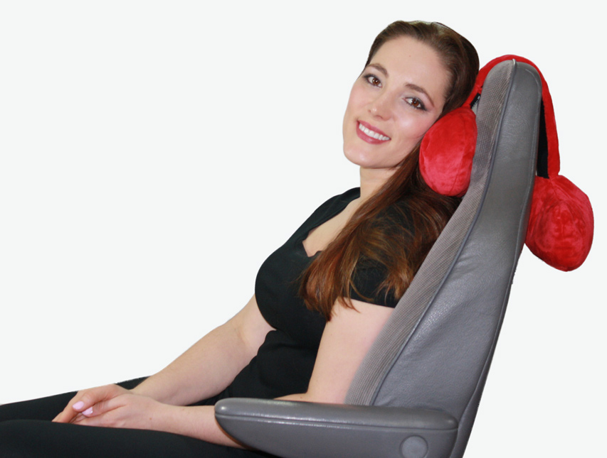 chair pillow for back card table with chairs target adjustable neck hangs over your seat firm head or body prop used on a dodge caravan