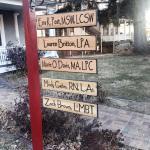 healing house street sign