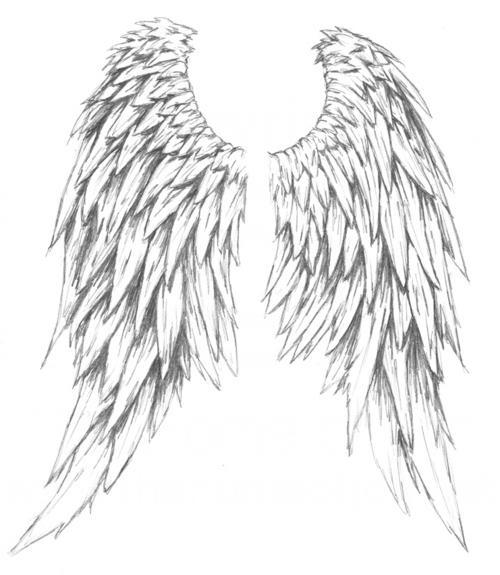 angel wing and demons tattoos