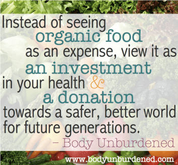 organic food is an investment in your health