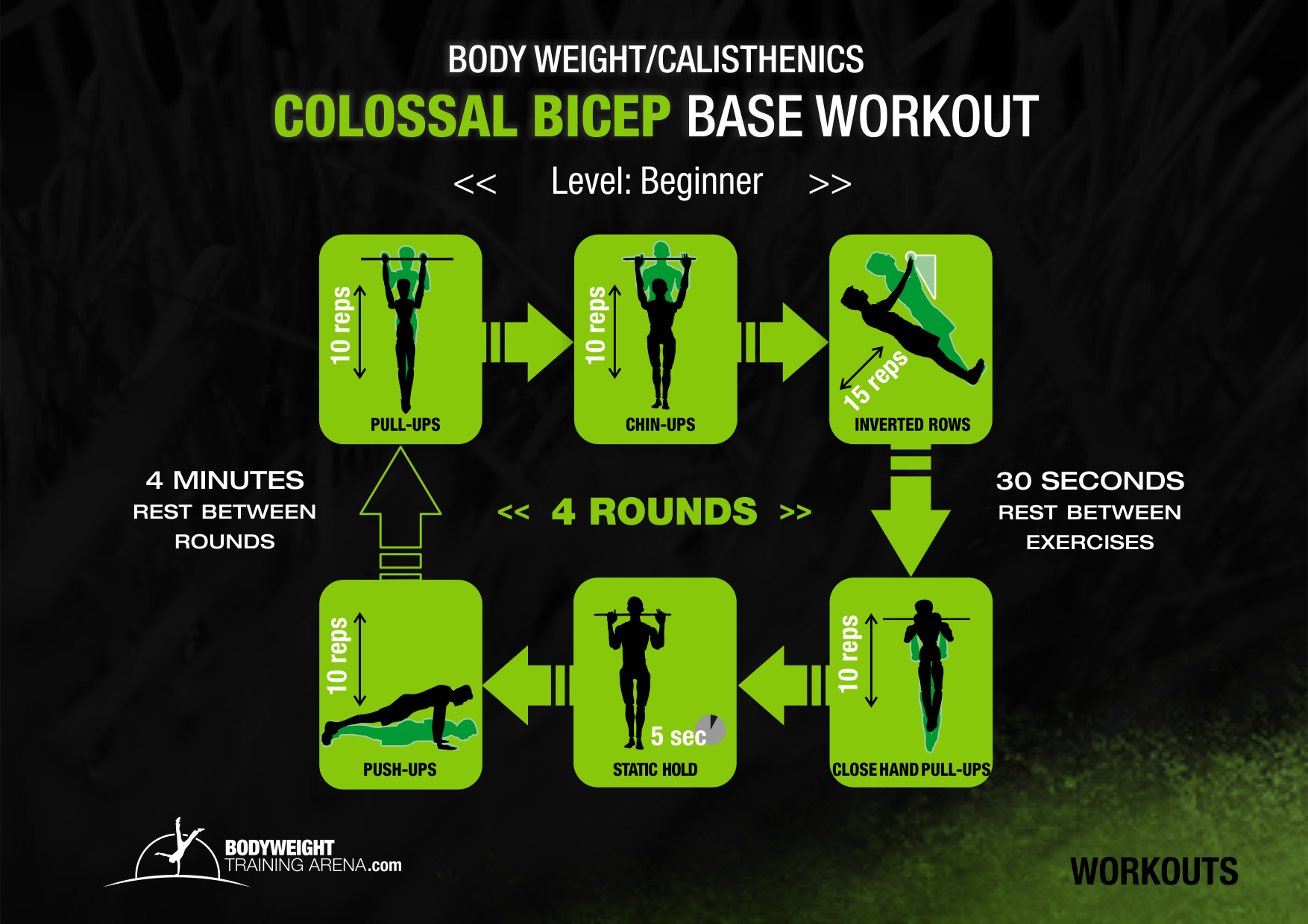calisthenic workout routine for colossal bicep