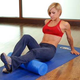 foam rolling high heels calf pain reduction