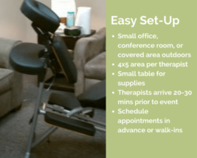 charlotte corporate chair massage workplace