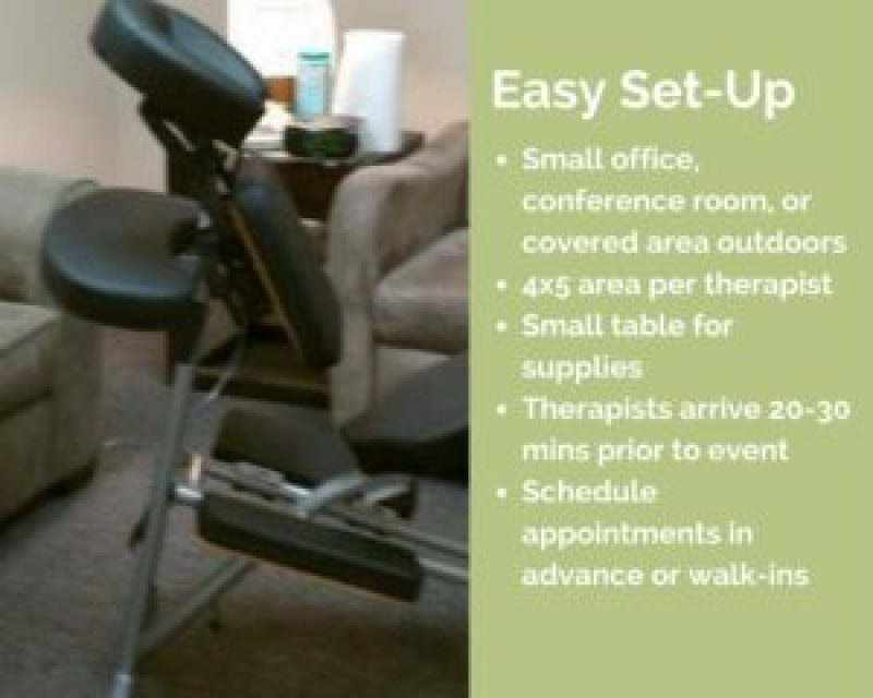 indianapolis corporate chair massage workplace