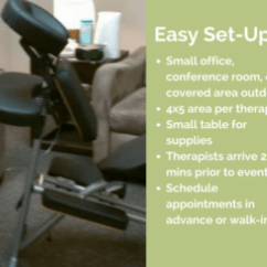 Chair Massage Seattle Black Leather Desk And Mobile Services Corporate Workplace