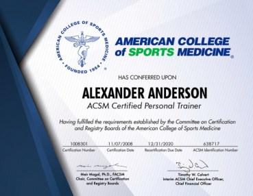 ACSM Certification