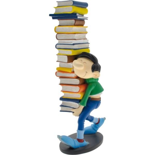 Plastoy Guust Flater met boeken, 26 cm