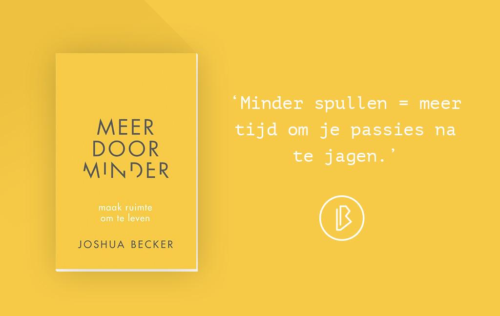 Recensie: Joshua Becker - Meer door minder