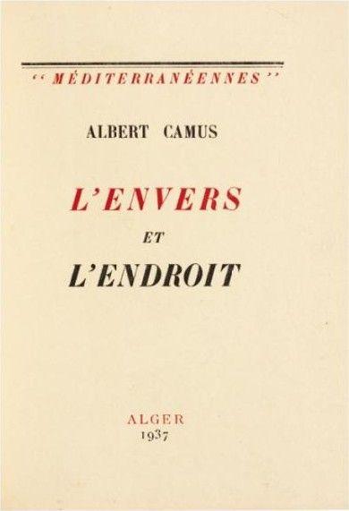 L Envers Et L Endroit : envers, endroit, L'Envers, L'Endroit, Albert, Camus, (1937), BoekMeter.nl