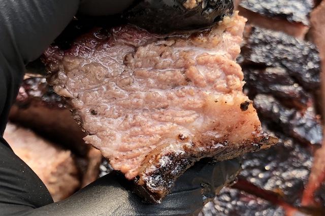 Brisket Point Skåret ud i 3cm store terning. Den er så Tasty....