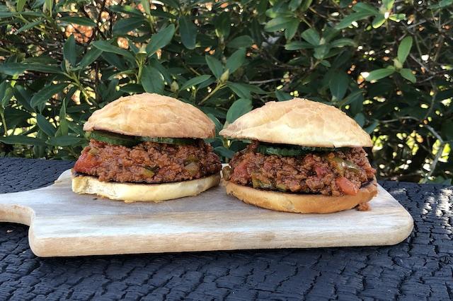 Sloppy Joe Burger ala Boemsen med kødsauce