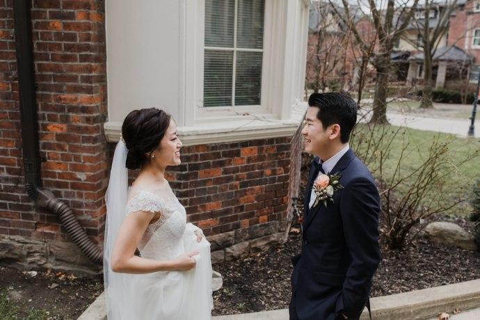 Toronto wedding photographer + First look