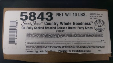 Fully Cooked Breaded Chicken Breast Patty Strips