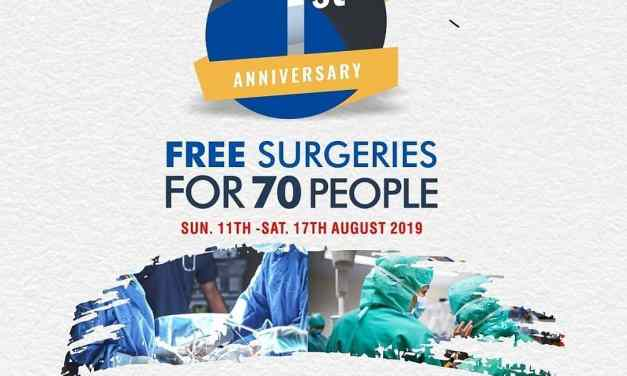 Free Surgery for 70 People
