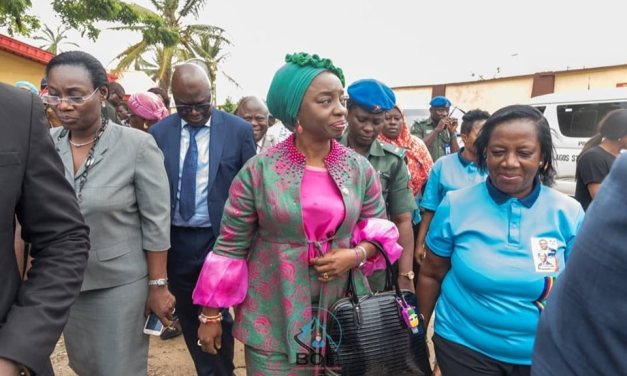 Amazing time receiving the First Lady of Lagos State Dr Ibijoke Sanwo-Olu at the flagoff of the FREE #100in100 surgical Intervention (Picture Story)
