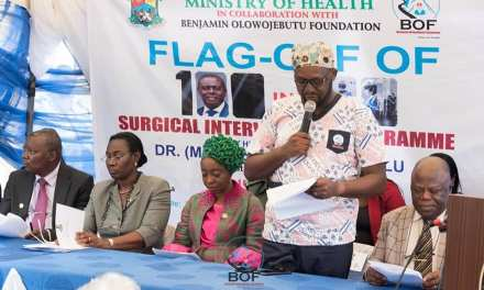 A SPEECH BY DR BENJAMIN OLOWOJEBUTU, FOUNDER OF BOF AT THE 100 IN 100 DAYS FREE SURGERIES IN CELEBRATION OF HIS EXCELLENCY, BABAJIDE OLUSOLA SANWOOLU ONE HUNDRED DAYS IN OFFICE