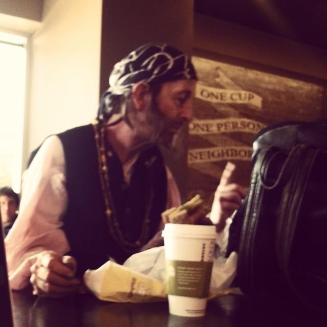 A Pirate Walks into Starbucks…