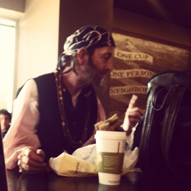 I've heard about talk like a pirate day, but didn't know about dress like a pirate day. #arrgh #avast