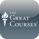 Logo for the Great Courses series featuring torch icon