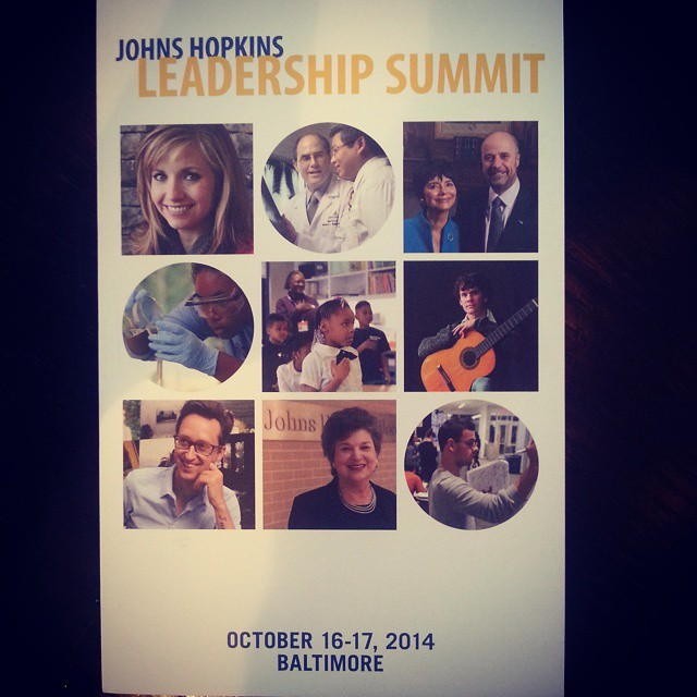 My official invitation to the Johns Hopkins Leadership Summit arrived today. #cantwait <a rel=