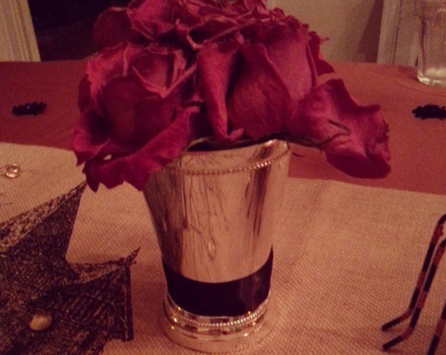Dead roses are an excellent touch for Halloween…